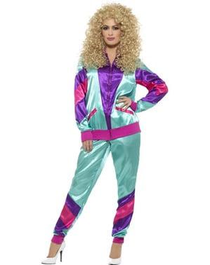 80's atleet kostuum voor vrouw