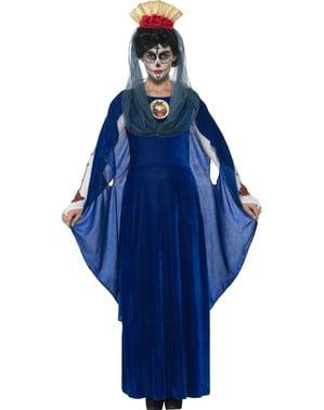 Fato de virgem Catrina dia dos mortos para mulher