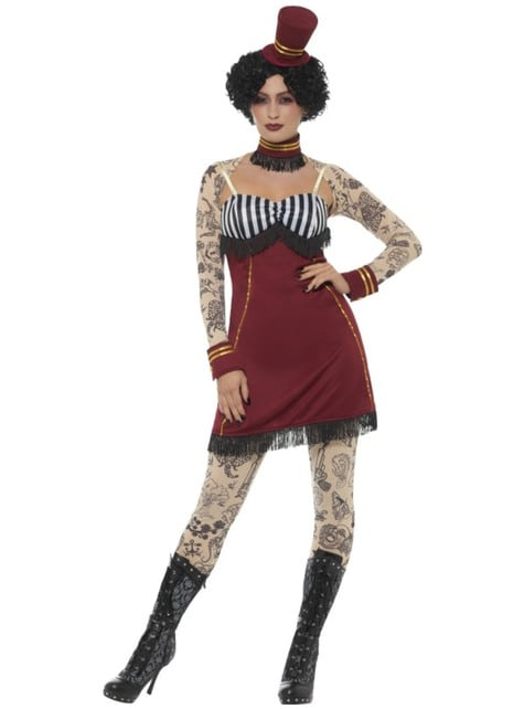 Circus tamer with tattoos costume for women