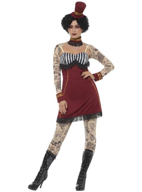 महिलाओं के लिए टैटू पोशाक के साथ सर्कस टैमर