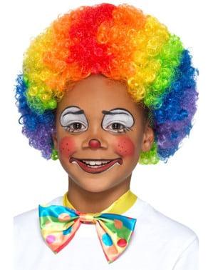 Gelockte Clown Perücke für Kinder