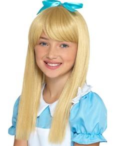 Perruque princesse des merveilles blonde fille