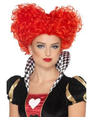 Queen of Hearts pruik voor vrouw