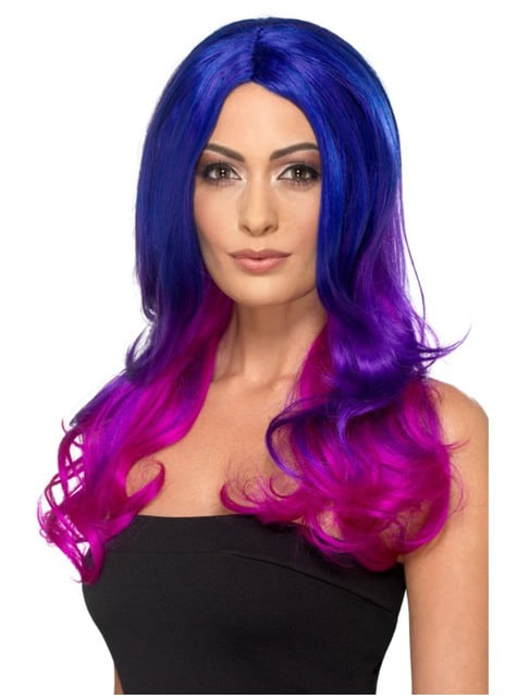 Deluxe fuschia witch wig for women