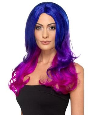 Perruque sirène violette et fuchsia