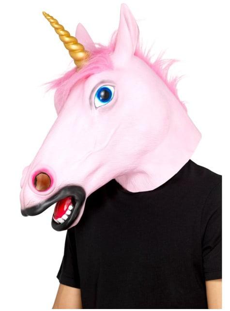 Masque licorne rosa adulte