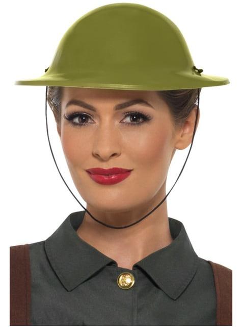 Casco de soldado británico verde para adulto - para tu disfraz