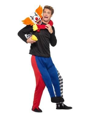 Böser Clown Huckepack Kostüm für Erwachsene