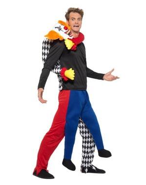 Maskeraddräkt med kidnappande clown på axlarna för vuxen