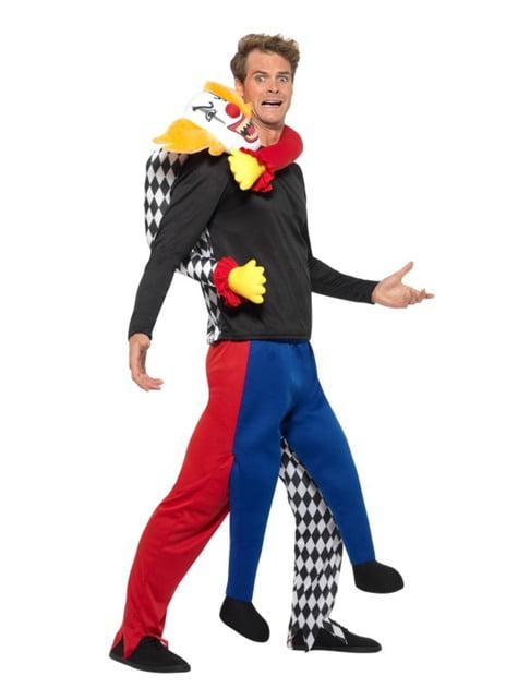 Piggyback Kidnapping Clown kostuum voor volwassenen