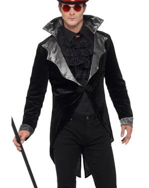 Casaco de vampiro gótico preto para homem