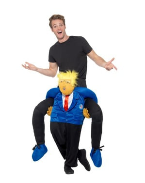 Disfraz a hombros de Donald Trump