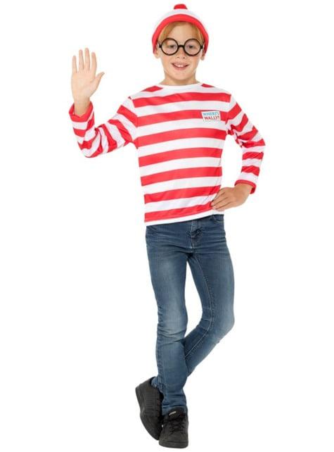 Klassiek Where's Wally kostuum voor jongens