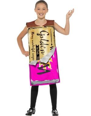 Kostium tabliczki czekolady ze złotym biletem - Charlie i Fabryka Czekolady