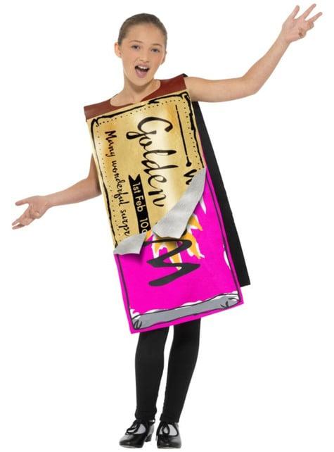 Fato de barra de chocolate vencedora - Charlie e a Fábrica de Chocolates de Roald Dahl