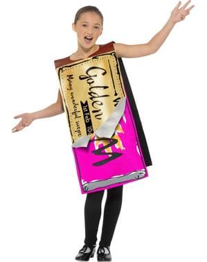 Costume da barretta di cioccolato vincitrice - La Fabbrica di Cioccolato di Roald Dahl