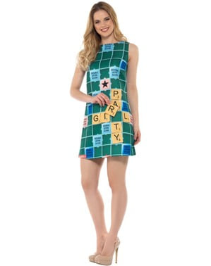 Scrabble board costume for women