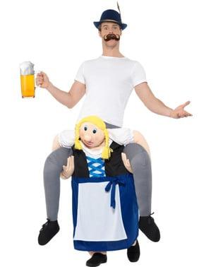 Piggyback Beierse vrouw Oktoberfest kostuum
