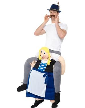 Kostým pro dospělé piggyback bavorská žena Oktoberfest