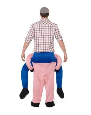Gris ri-på kostyme til voksne