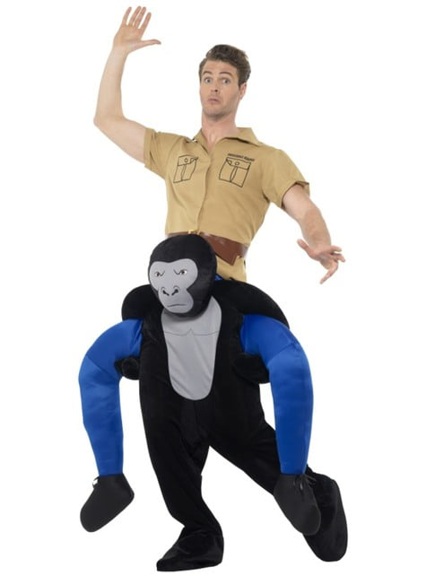 Disfraz de gorila ride on para adulto