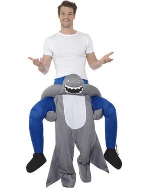Costume da squalo ride on per adulto