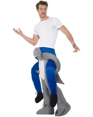 Disfraz de tiburón ride on para adulto