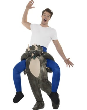 Fato de dinossauro ride on para adulto