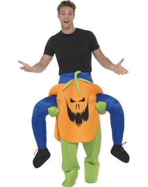 Costume da zucca maligna ride on per adulto