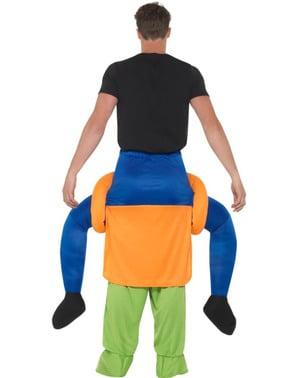 Disfraz a hombros de calabaza maligna para adulto