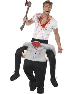 Costum ride on de om fără cap pentru adult