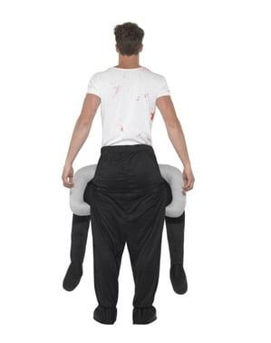 Fato às costas de homem sem cabeça para adulto