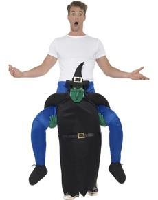 Disfraz de bruja verde ride on para adulto