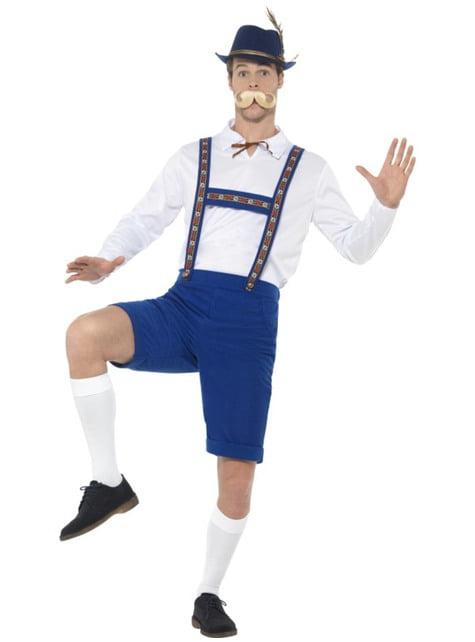 Disfraz de bávaro azul oktoberfest para hombre