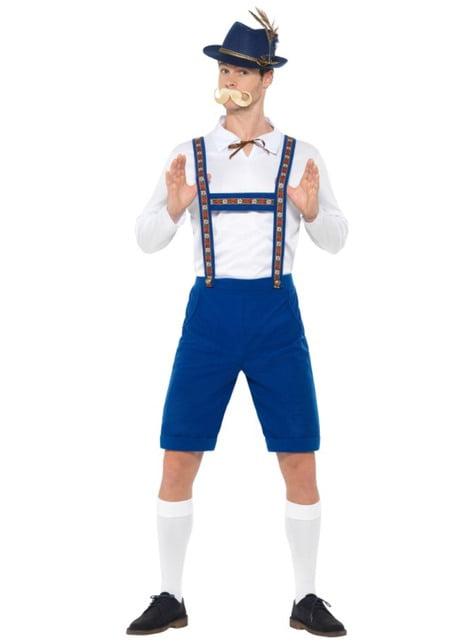 Disfraz de bávaro azul oktoberfest para hombre - hombre