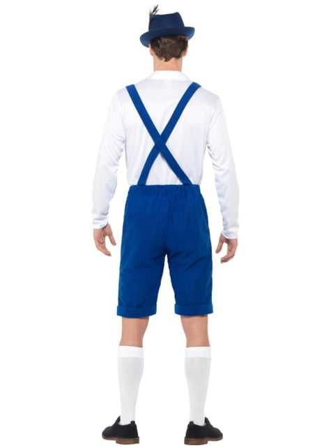 Blue Bavarian Oktoberfest costume for men