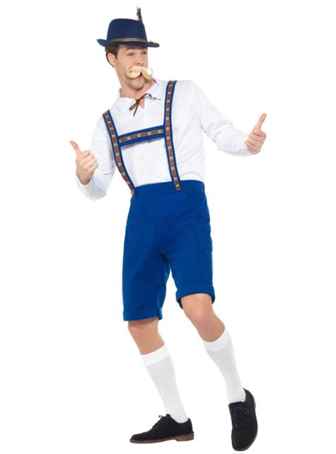 Disfraz de bávaro azul oktoberfest para hombre - traje