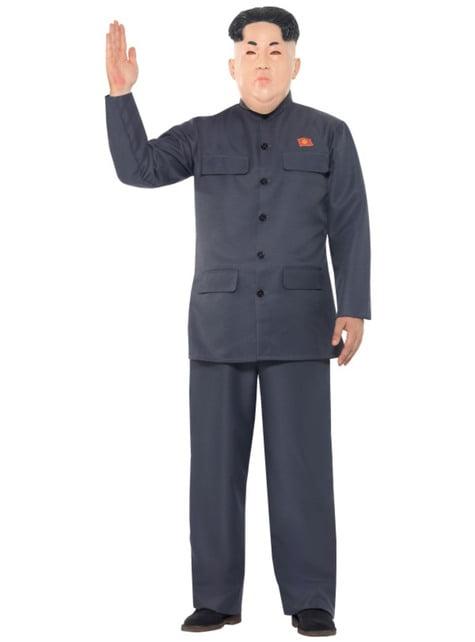 Disfraz de presidente coreano gris para hombre