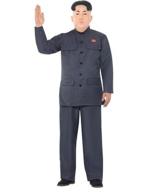 Grijs Koreaans president kostuum voor mannen