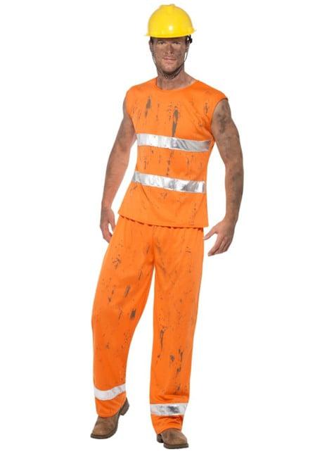Oranssi kaivosmiehen asu miehille
