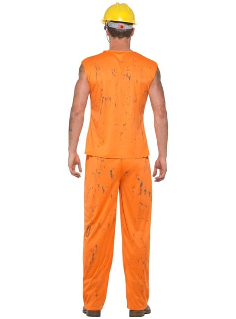 Disfraz de minero naranja para hombre - original