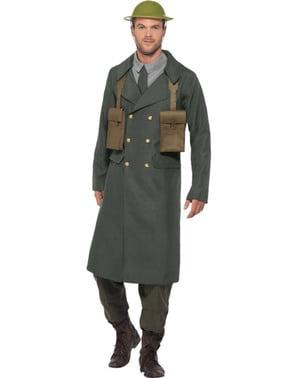Britisk tjenestemand fra anden verdenskrig kostume til mænd