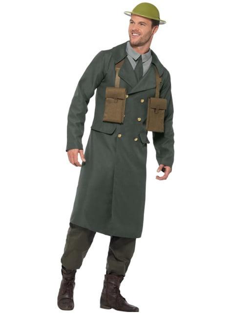 Disfraz de oficial británico de la Segunda Guerra Mundial para hombre - hombre