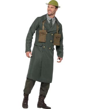 Disfraz de oficial británico de la Segunda Guerra Mundial para hombre