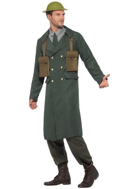 Disfraz de oficial británico de la Segunda Guerra Mundial para hombre - traje