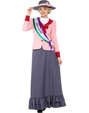 Disfraz de sufragista para mujer