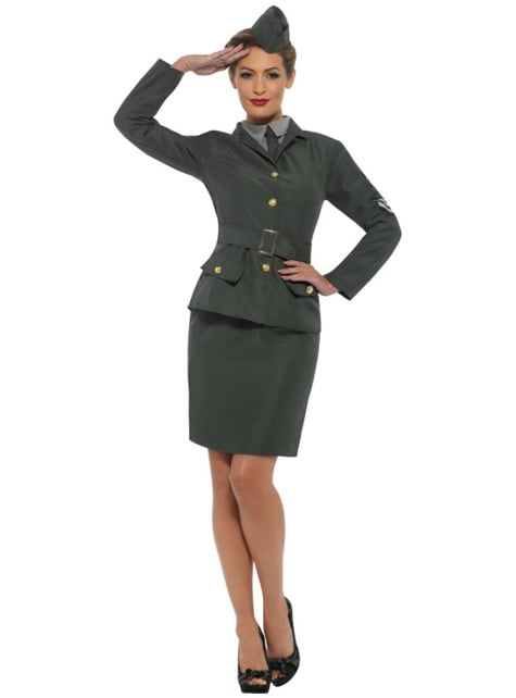 Tweede Wereldoorlog soldaat kostuum voor vrouw