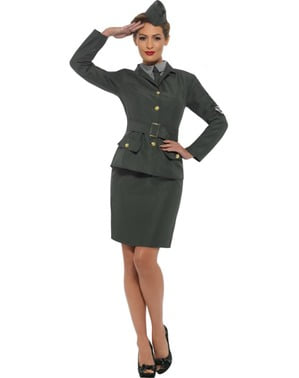 Soldatin aus Zweitem Weltkrieg Kostüm für Damen