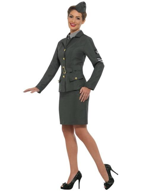 Disfraz de soldado de la Segunda Guerra Mundial para mujer - original