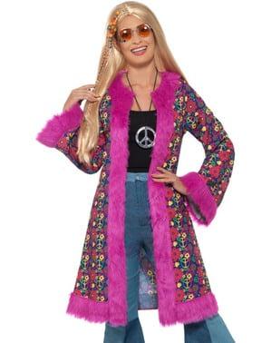 Disfraz de hippie psicodélico para mujer